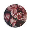 Wall Clock Small - Crimson in bloom