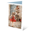 MGC17016 - The violin Player - Satin Smooth Greeting Card