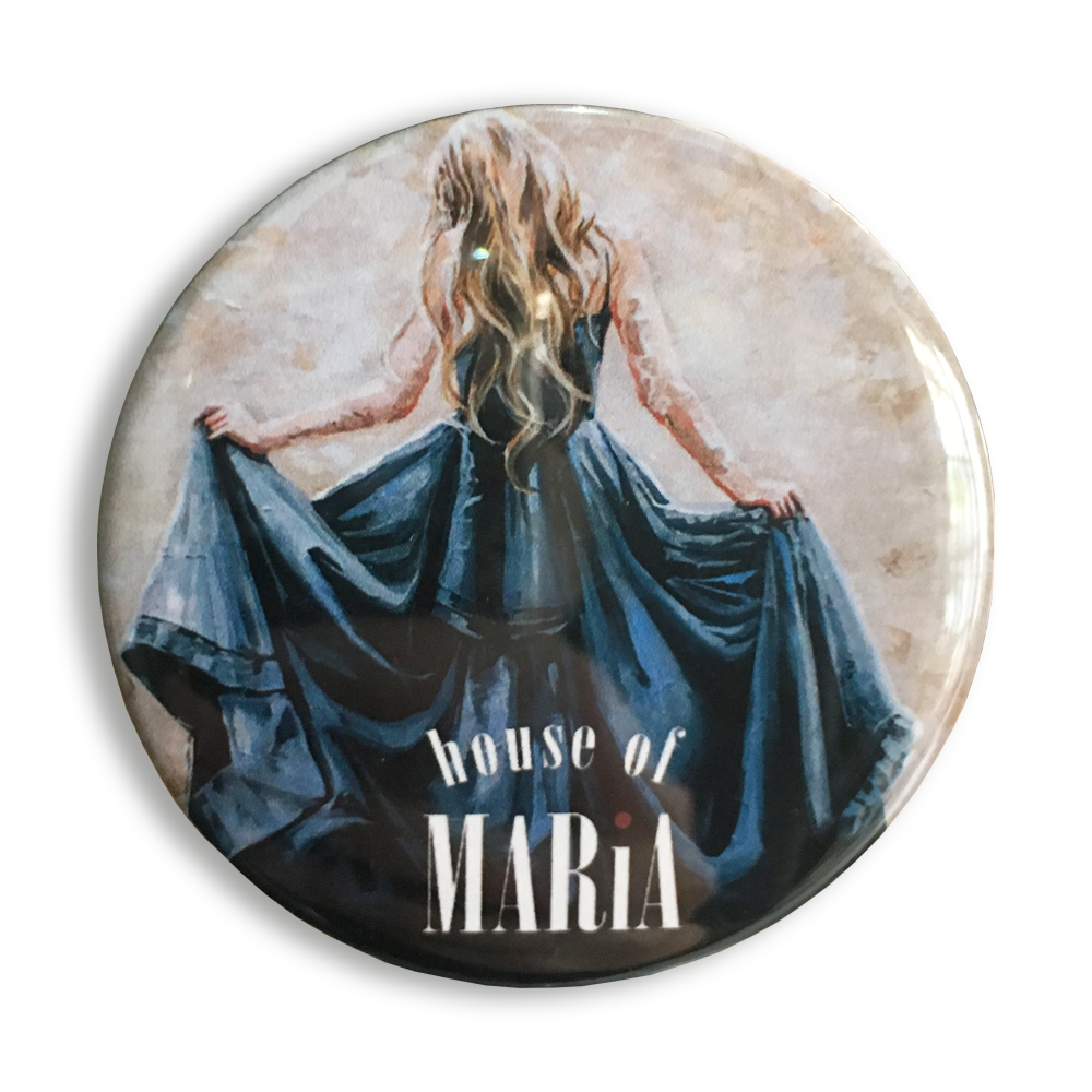 MFM020 - Fridge Magnet - Lady in blue