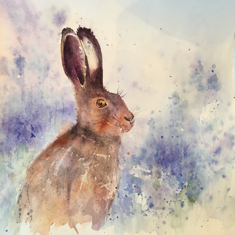 Hare in the Bluebell Wood