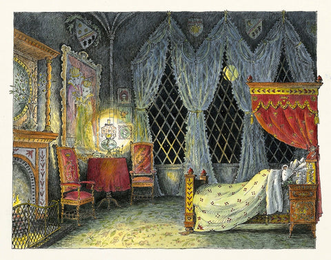 Angelina at the Palace .... asleep in bed. Limited Edition Print