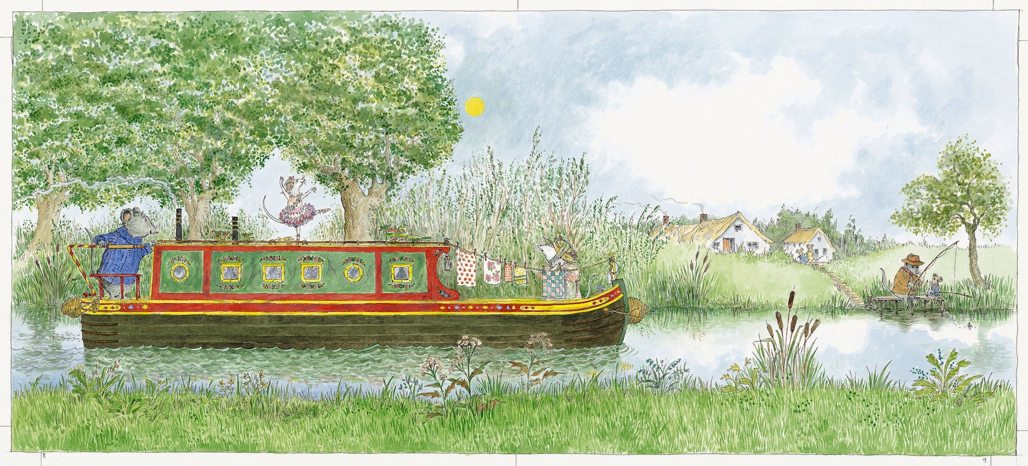 Angelina, Star of the Show      on the canal barge  Limited Edition Print