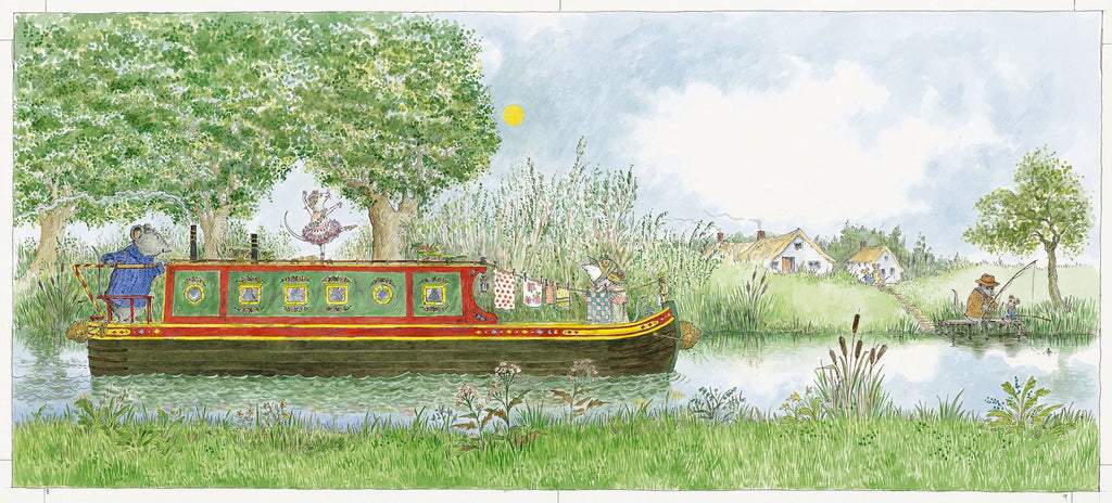 Angelina, Star of the Show .... on the canal barge.  Limited Edition Print