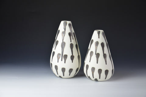 Metal on Milk - Porcelain Medium Vase