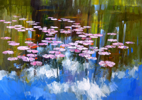 Waterlilies, Spring Morning