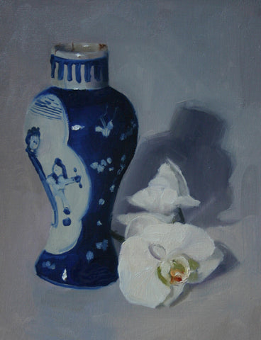 Japanese Vase with Orchids
