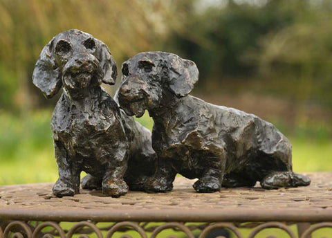 Freda and Wilfred (wire haired Dachshunds)