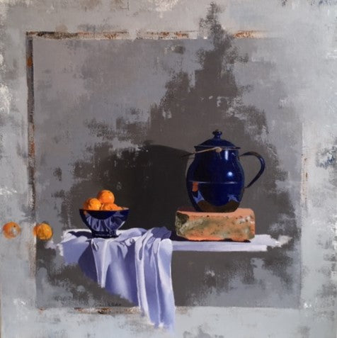Blue Pots and Clementines