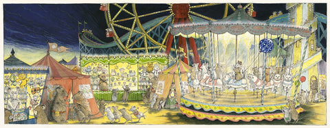 Angelina at the Fair .... on the carousel. Limited Edition Print 5/25