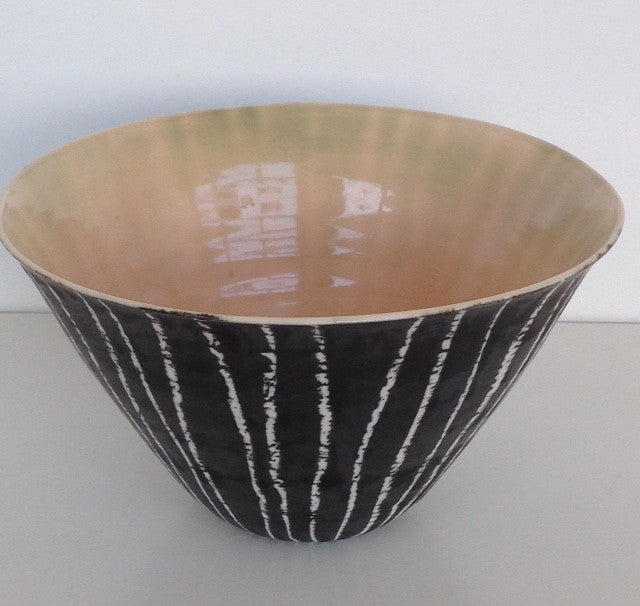Medium Moonlit Birch Bowl / Pink Glaze