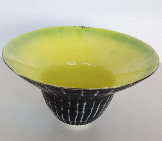 Small Moonlit Birch Bowl, Yellow with Lip