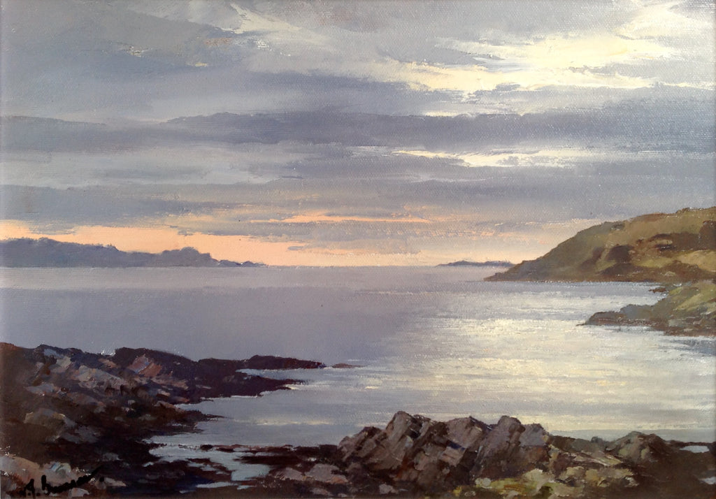 Nightfall Over the Sound of Sleat