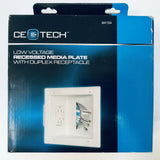 Tech Recessed Low Voltage Media Plate