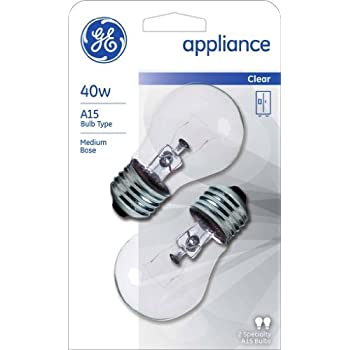 GE 40w A15 Clear Appliance Incandescent Light Blub