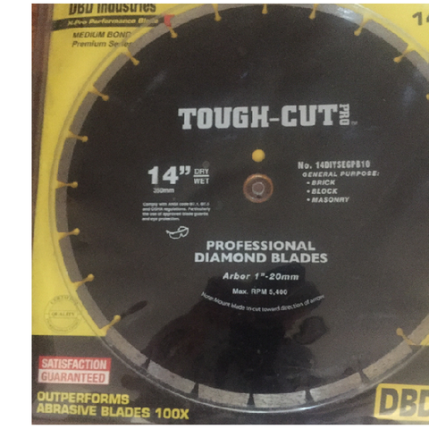 "14"" Tough Cut Pro Diamond Blade"