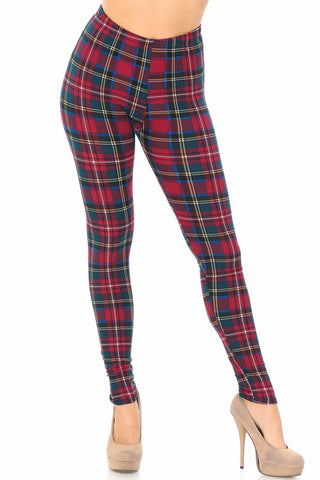 Modish Plaid Legging