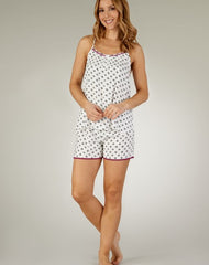 Supersoft Geometric Print Cami And Shorts Set