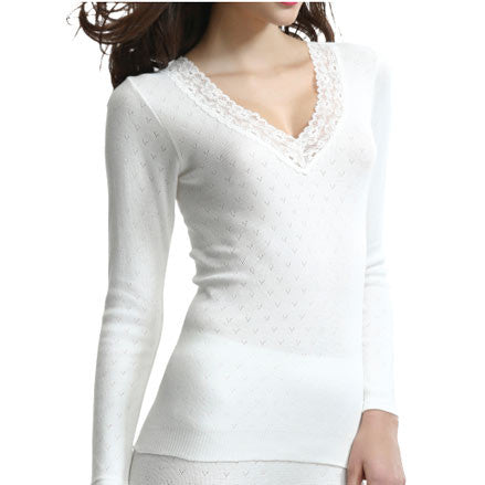 Brushed Thermal Long Sleeved Vest Top
