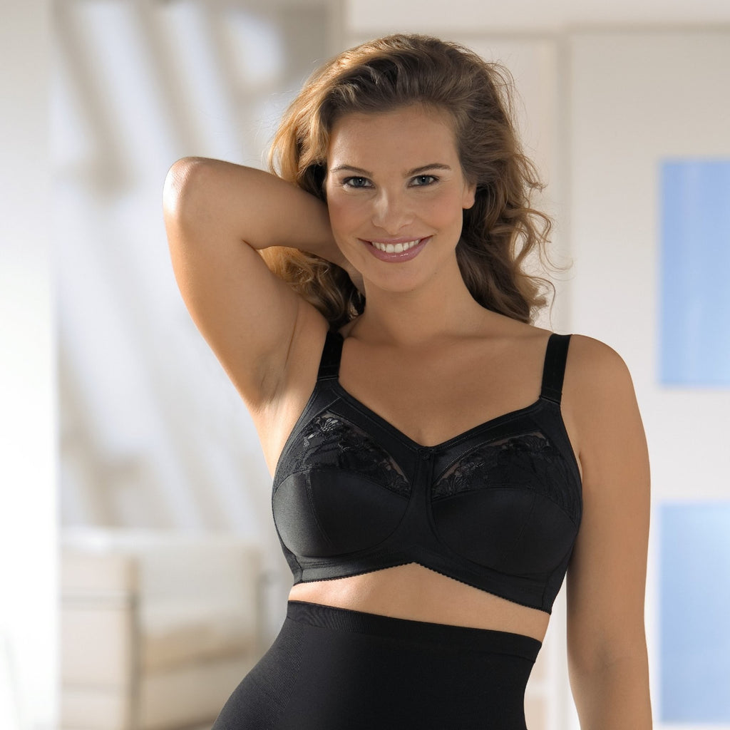 Comfort Safina Non-wired Bra (Black)