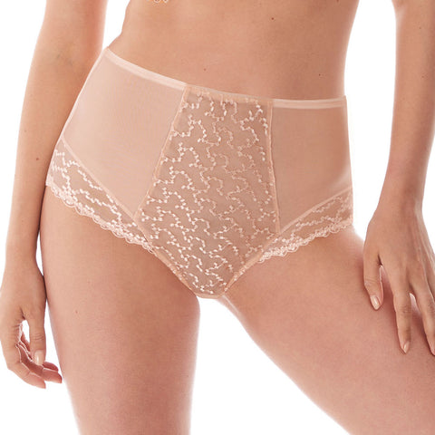 Ana High Waist Brief in Blush