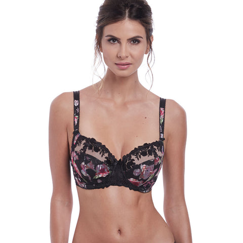 Annalise Underwired Side Support Bra in Black