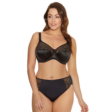 Cate Full Cup Banded Bra in Black