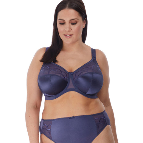Cate Full Cup Banded Bra  in Denim
