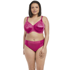 Elomi Cate Full Cup Banded Bra & Brief in Hot Pink