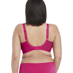 Elomi Cate Full Cup Banded Bra in Hot Pink Back