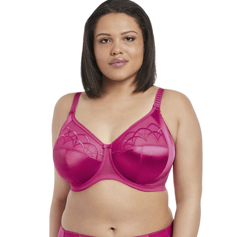 Cate Full Cup Banded Bra - Hot Pink