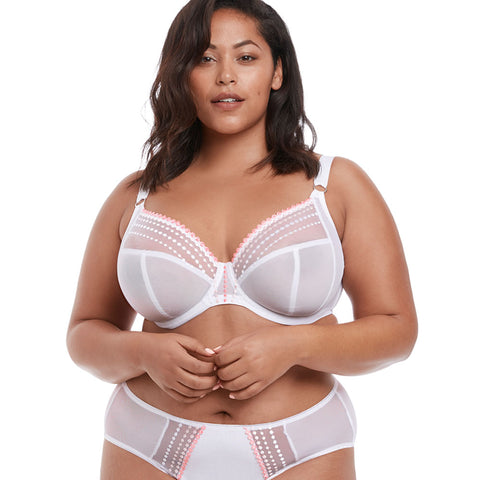 Matilda Underwired Plunge Bra - White
