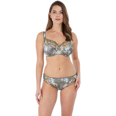 Emmie Underwired Side Support Bra in Evergreen