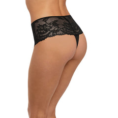 Bronte Deep Thong in Black Side