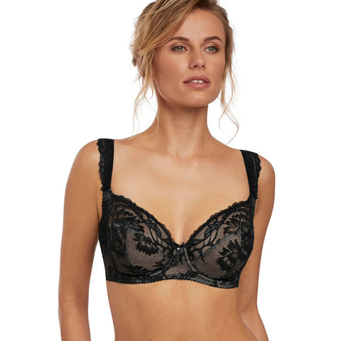 Bronte Underwired Side Support Bra in Black