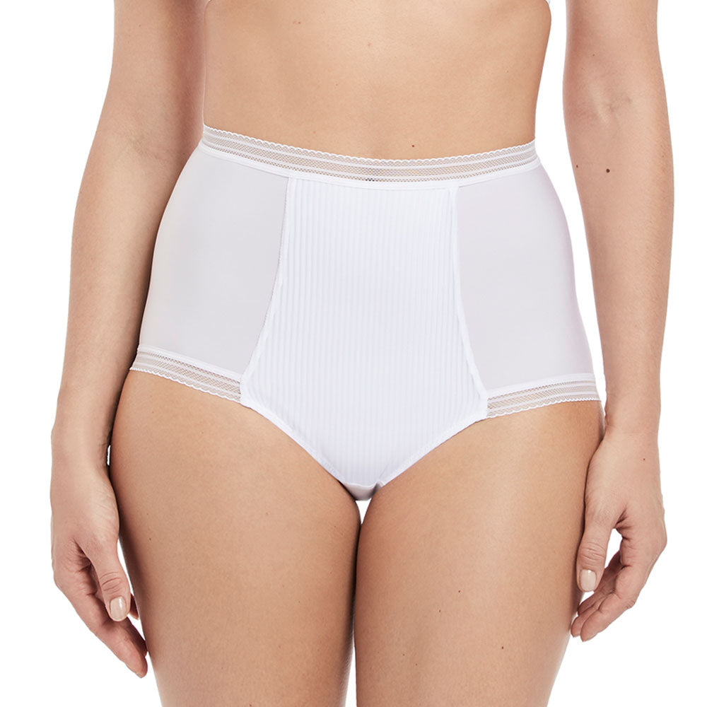 Fusion High Waist Brief from Fantasie in White front