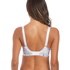 Carla Underwired Side Support Bra in White Back