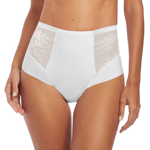 Illusion High Waist Brief in White