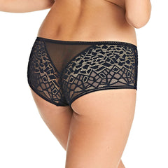 Soiree Lace Short in Black Back