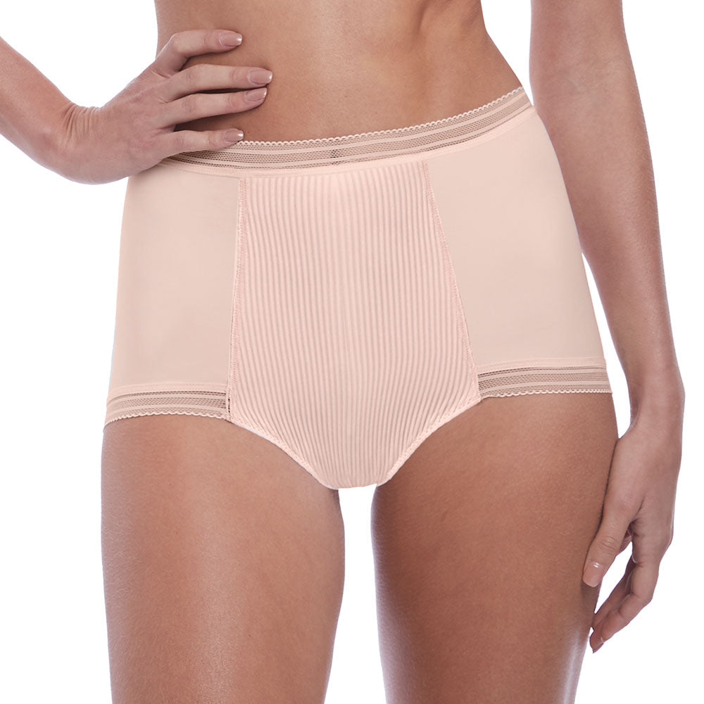 Fusion High Waist Brief from Fantasie in Blush