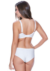 Idol Moulded Balcony Bra White Back