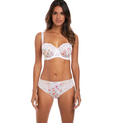 Lena Side Support Bra and Brief in White from Fantasie Lingerie