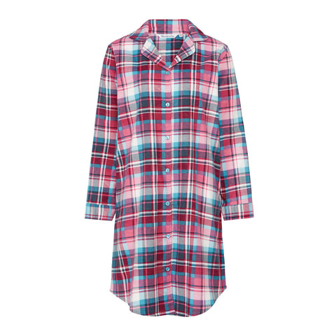 Slenderella Ladies Cotton Tartan Nightshirt