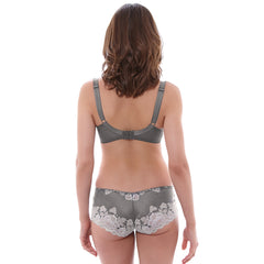Marianna Side Support Plunge Bra in Silver