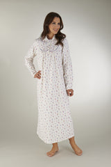Winceyette Long Sleeved Peter Pan Collar 51inch Nightdress