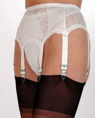 Six Strap Suspender Belt with Lace Front and Sides