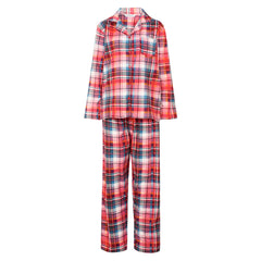 Slenderella Ladies Tartan Pyjama Red