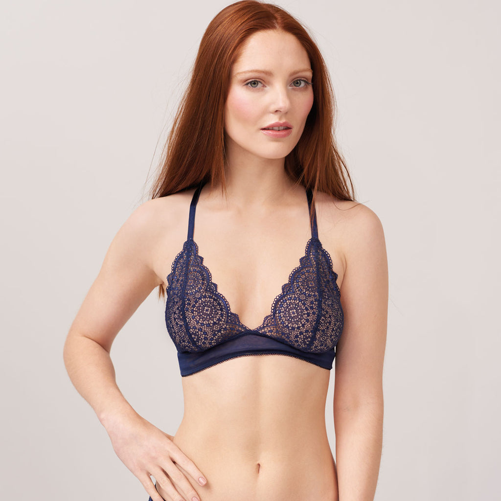 Sophia Triangle Bra (Navy)