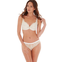 Bailey Padded Plunge Bra in Ivory