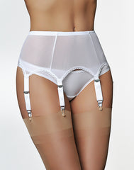 Six Strap Power Mesh Suspender Belt