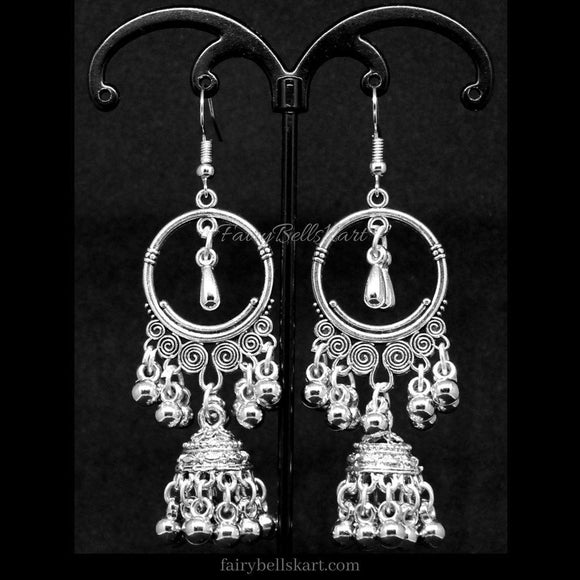 FairyBells Kart Oxidised Earrings Jewellery FBK2018473 by FairyBells Kart